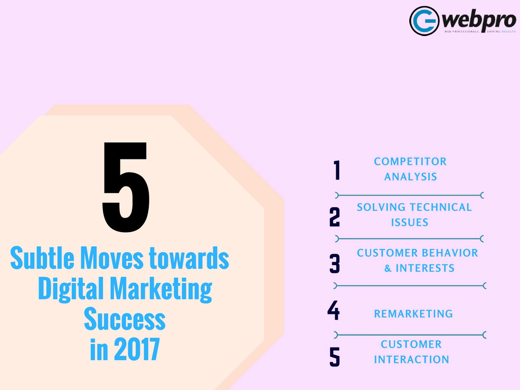 5 Subtle Moves towards Digital Marketing Success in 2017