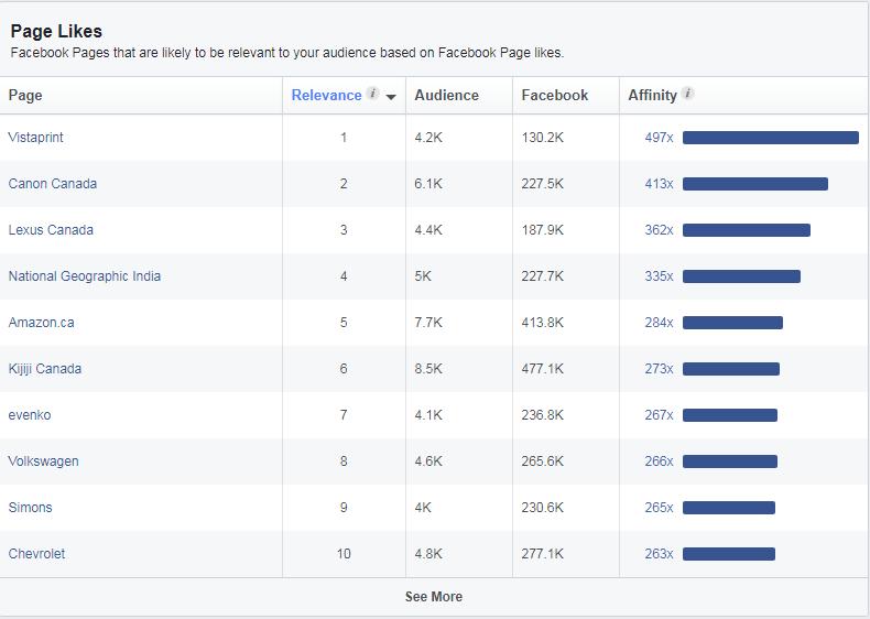 target facebook audience
