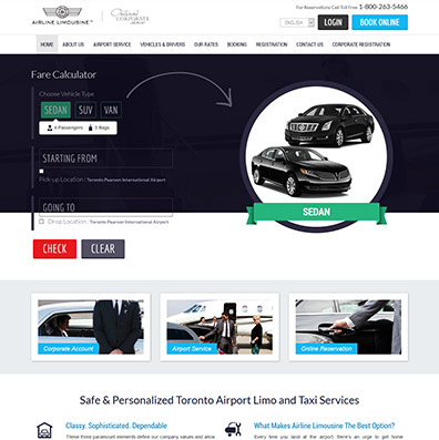 Airline Limosine responsive site