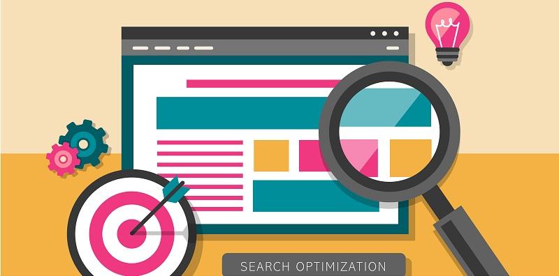 flat design of search optimization