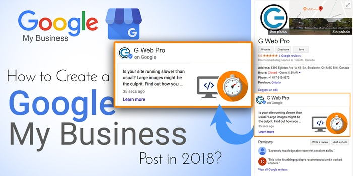 google my business post